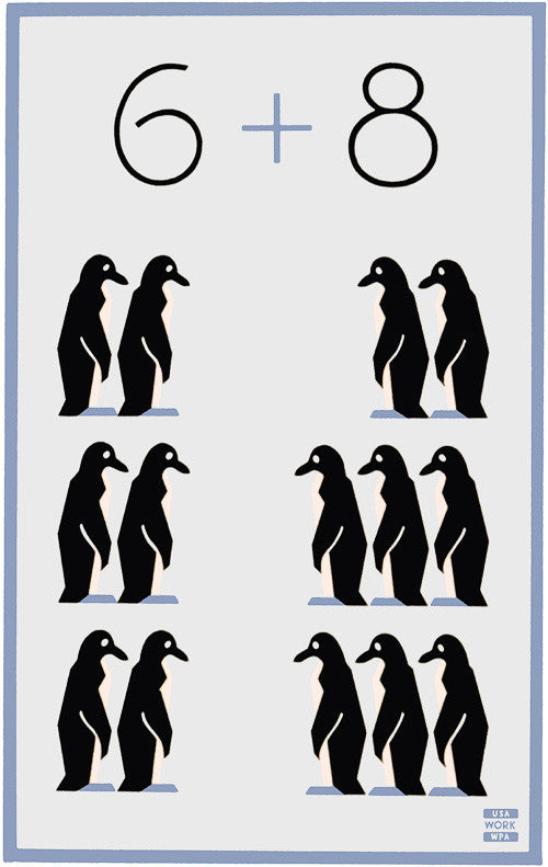 6 + 8 Penguins WPA poster