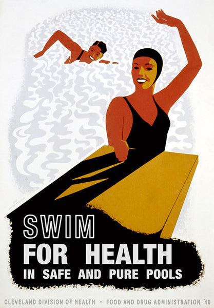 Swim For Health WPA poster