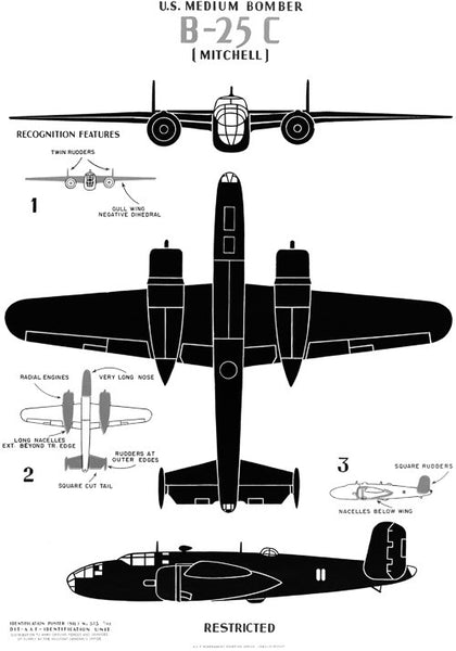 "U.S. Medium Bomber B-25C ""Mitchell"""