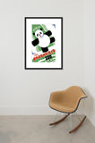 Visit the Brookfield Zoo Panda framed poster in room