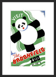 Visit the Brookfield Zoo Panda framed poster