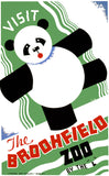 Visit the Brookfield Zoo Panda poster