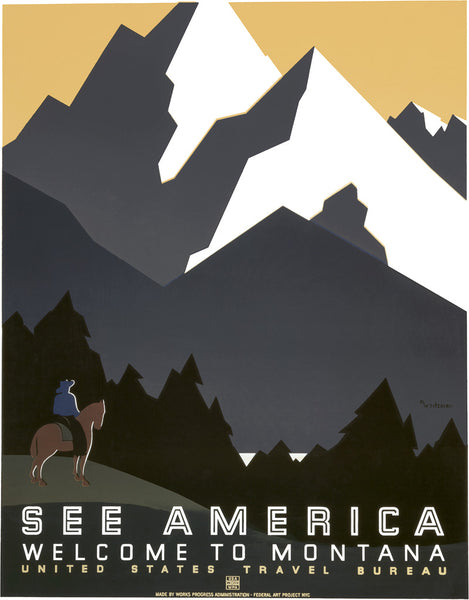 See America: Welcome to Montana National Park poster