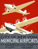 City of New York Municipal Airports poster