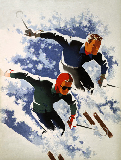 Skiing Couple