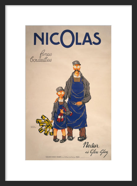 Nicolas: Nectar and Glou-Glou framed poster