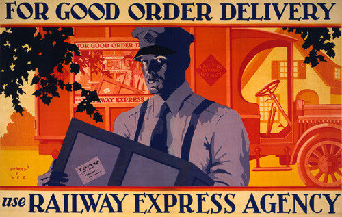 For Good Order Delivery Use Railway Express Agency