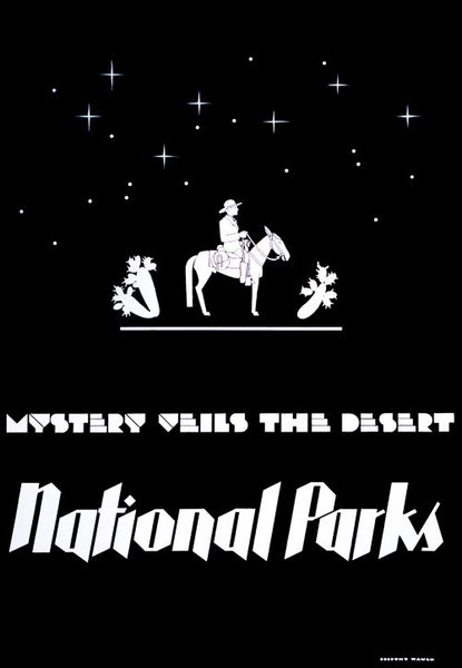 Mystery Veils the Desert - National Parks poster