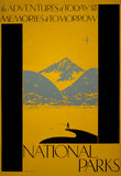 The Adventures of Today National Parks poster