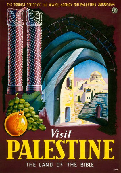 Visit Palestine: The Land of the Bible poster