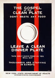 The gospel of the clean plate poster