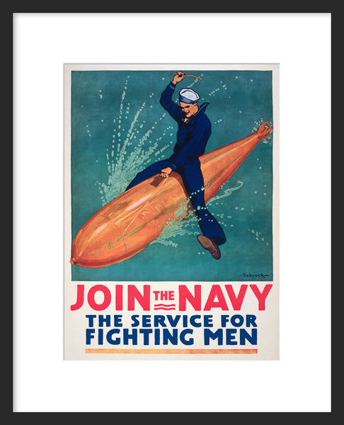 Join the Navy framed poster