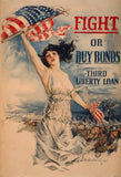 Fight or Buy Bonds Third Liberty Loan WWI poster