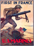 First in France: U.S. Marines poster