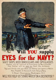 Will You Supply Eyes for the Navy? WWI poster.