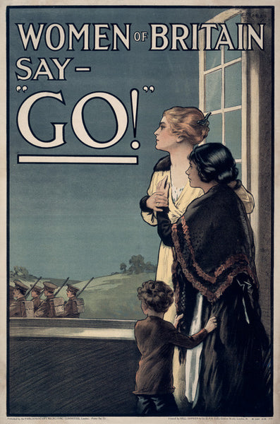 "Women of Britain Say - ""Go!"" WWI poster"