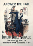 Answer the call of the London Rifle Brigade WWI poster