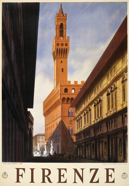 Firenze Italy Vintage Travel Poster
