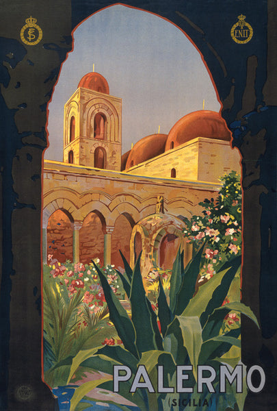 Palermo Vintage Travel Poster