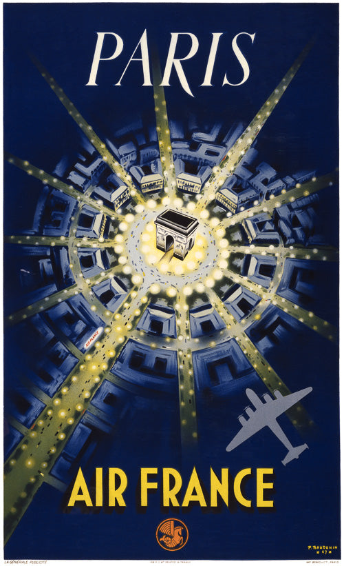 Paris Travel Poster - Air France