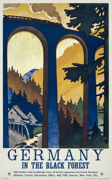 Germany: In the Black Forest travel poster