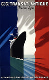 French Line: Vintage Cruise Travel Poster
