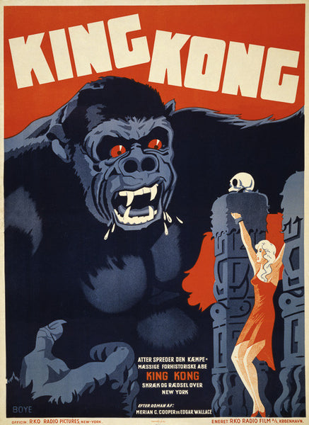 King Kong: Danish Movie Poster