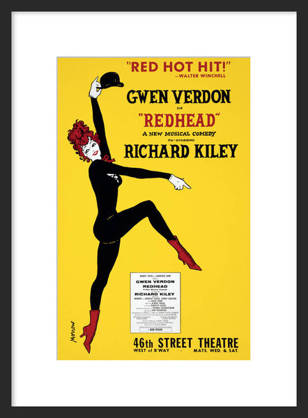 'Redhead' theater poster