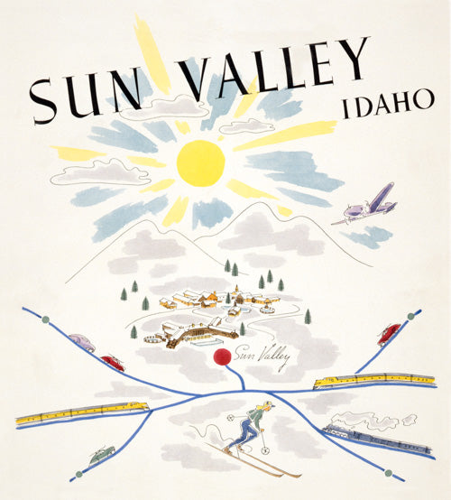 Sun Valley, Idaho Vintage Travel Poster