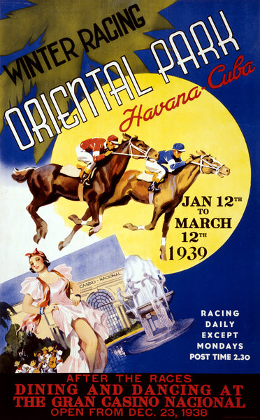 Winter Racing, Oriental Park - Havana, Cuba