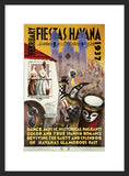 February Fiestas in Havana framed poster