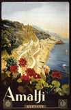 Vintage Amalfi, Italy travel poster