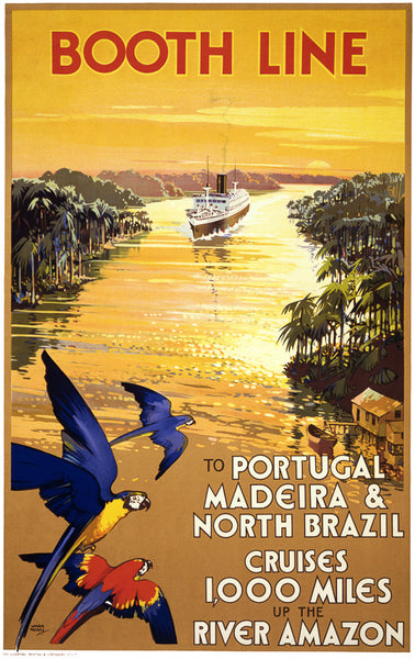 Booth Line: Vintage Cruise Travel Poster