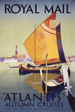 "Royal Mail ""Atlantis"" Autumn Cruises Vintage Travel Poster"