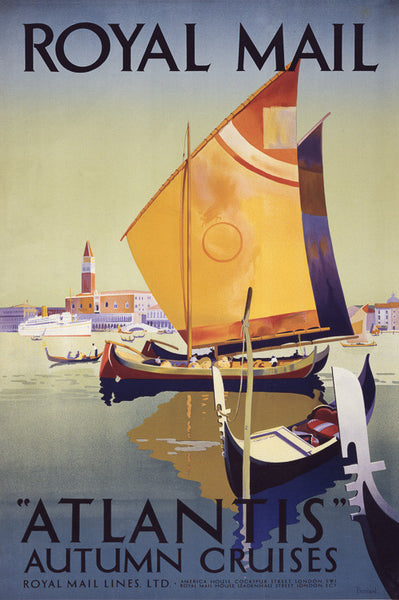 "Royal Mail ""Atlantis"" Autumn Cruises poster"