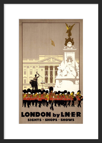 London by L.N.E.R. poster framed