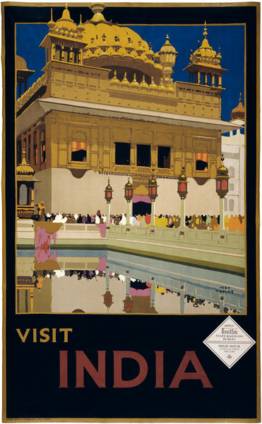 Visit India travel poster