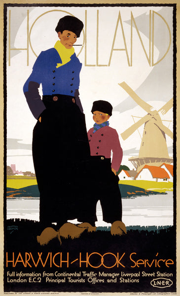 Holland: Harwich-Hook Service poster
