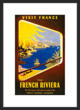 Visit France: The French Riviera framed poster