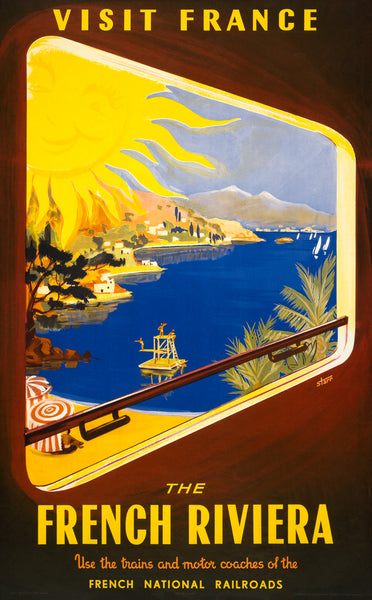 Visit France: The French Riviera poster