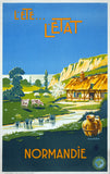 Summer, the Province of Normandy Vintage Travel Poster