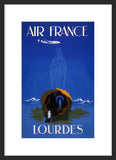 Air France - Lourdes framed travel poster