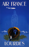Air France - Lourdes travel poster