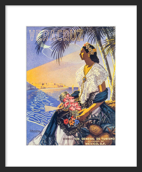 Veracruz, Mexico framed travel poster