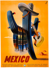 Vintage Mexico Travel Poster