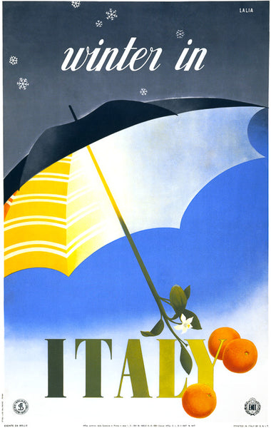 Winter in Italy Travel Poster