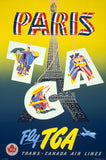 Vintage Paris Travel Poster