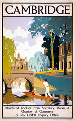 Cambridge Travel Poster