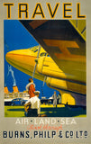 Travel: Air, Land, Sea Vintage Travel Poster