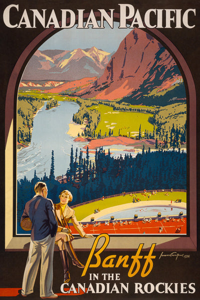 Banff in the Canadian Rockies Vintage Travel Poster